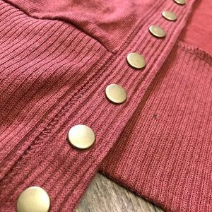 Sweaters - Snap button cardigan